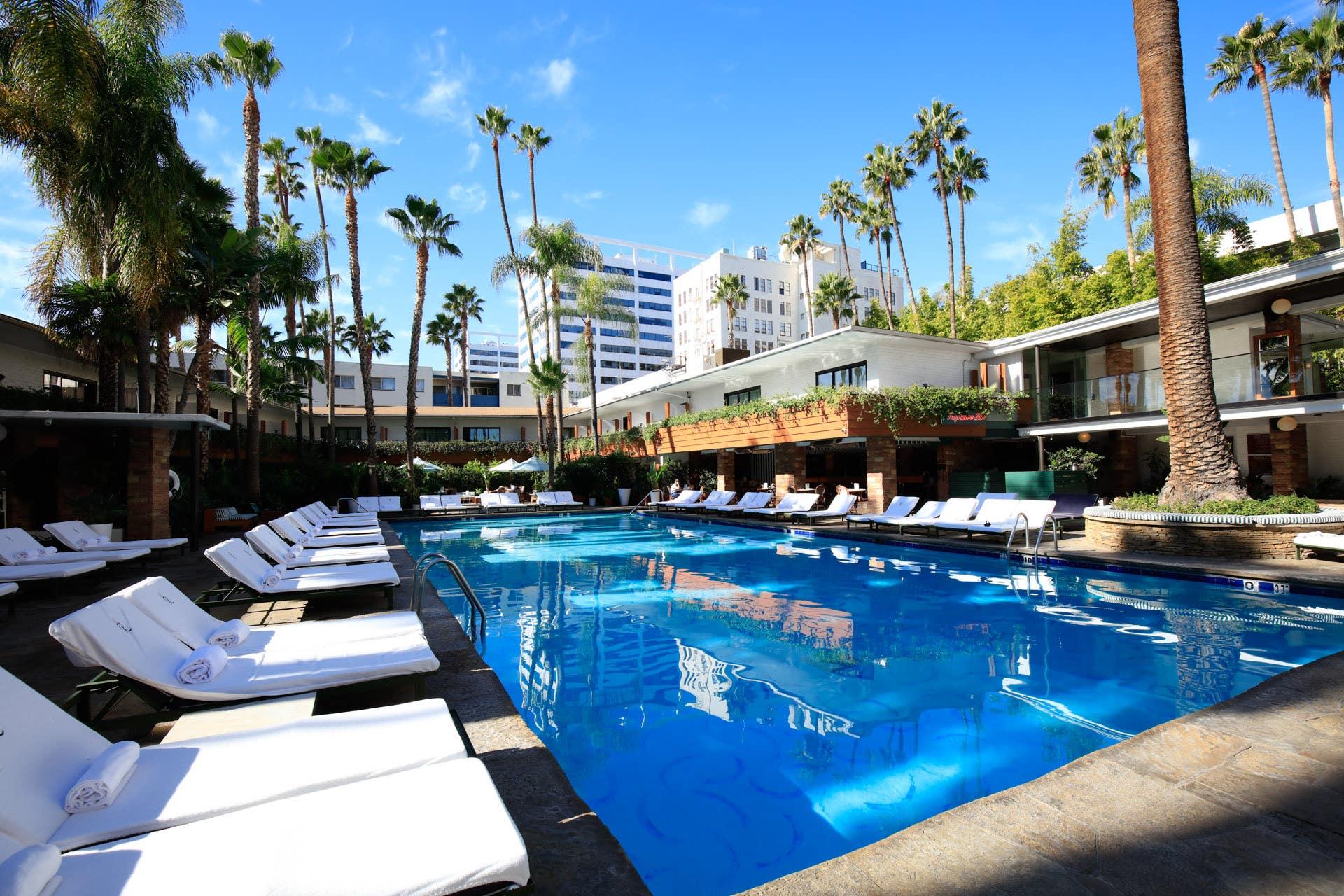 Hollywood Roosevelt Tropicana Pool and Cabanas