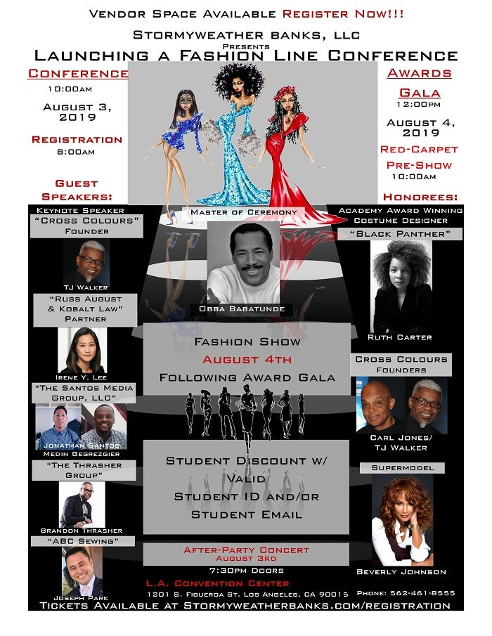 Conference August 4th Keynoted By >> 2019 Launching A Fashion Line Conference And Breaking Barriers