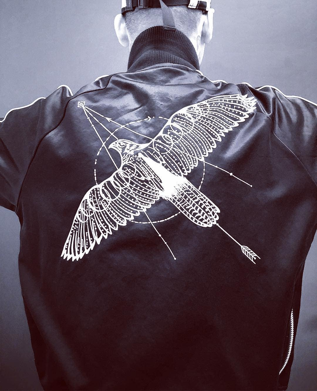 Sacai jacket featuring a Dr. Woo design
