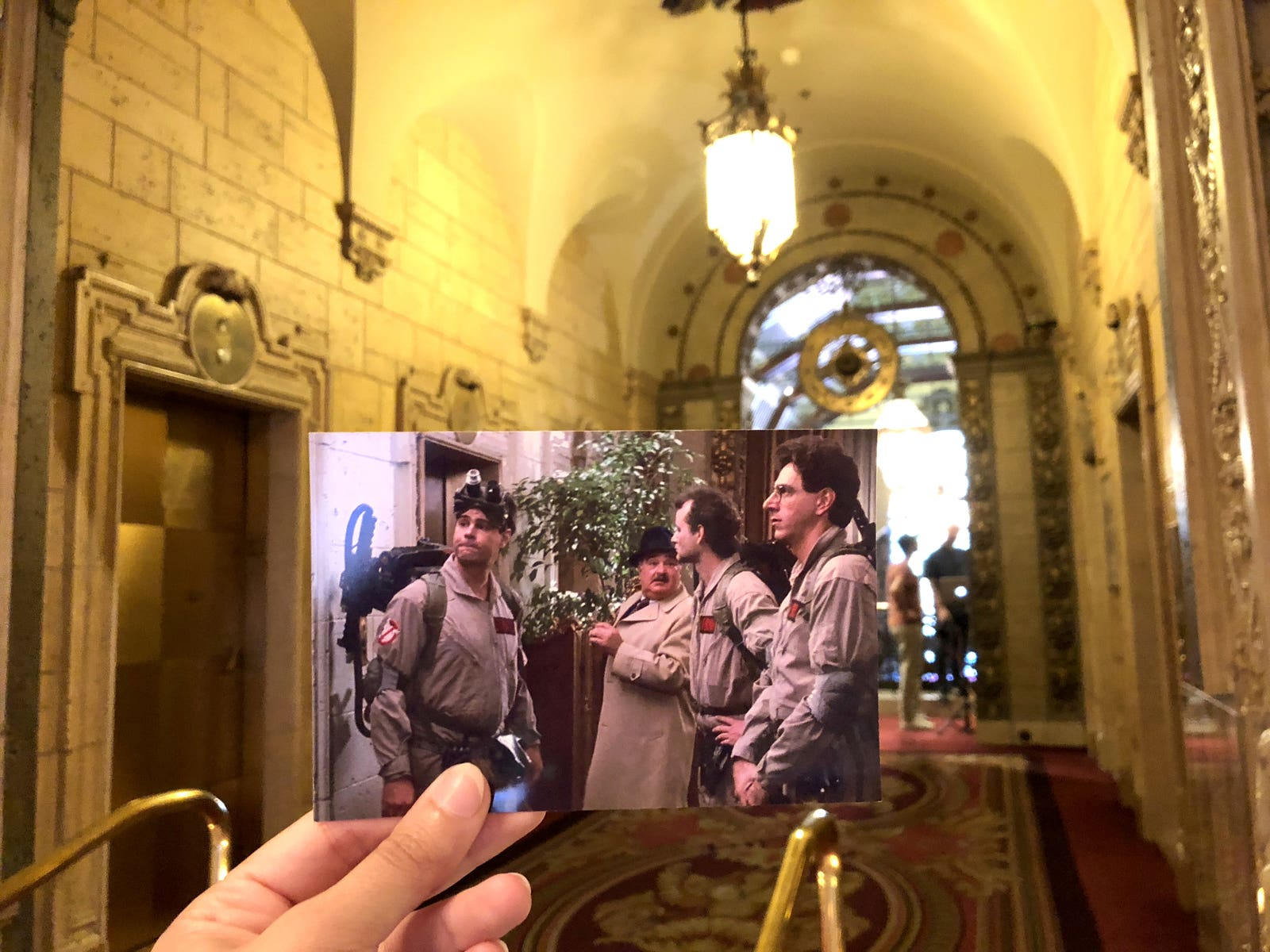 """Scene from """"Ghostbusters"""" (1984) at the Millennium Biltmore"""