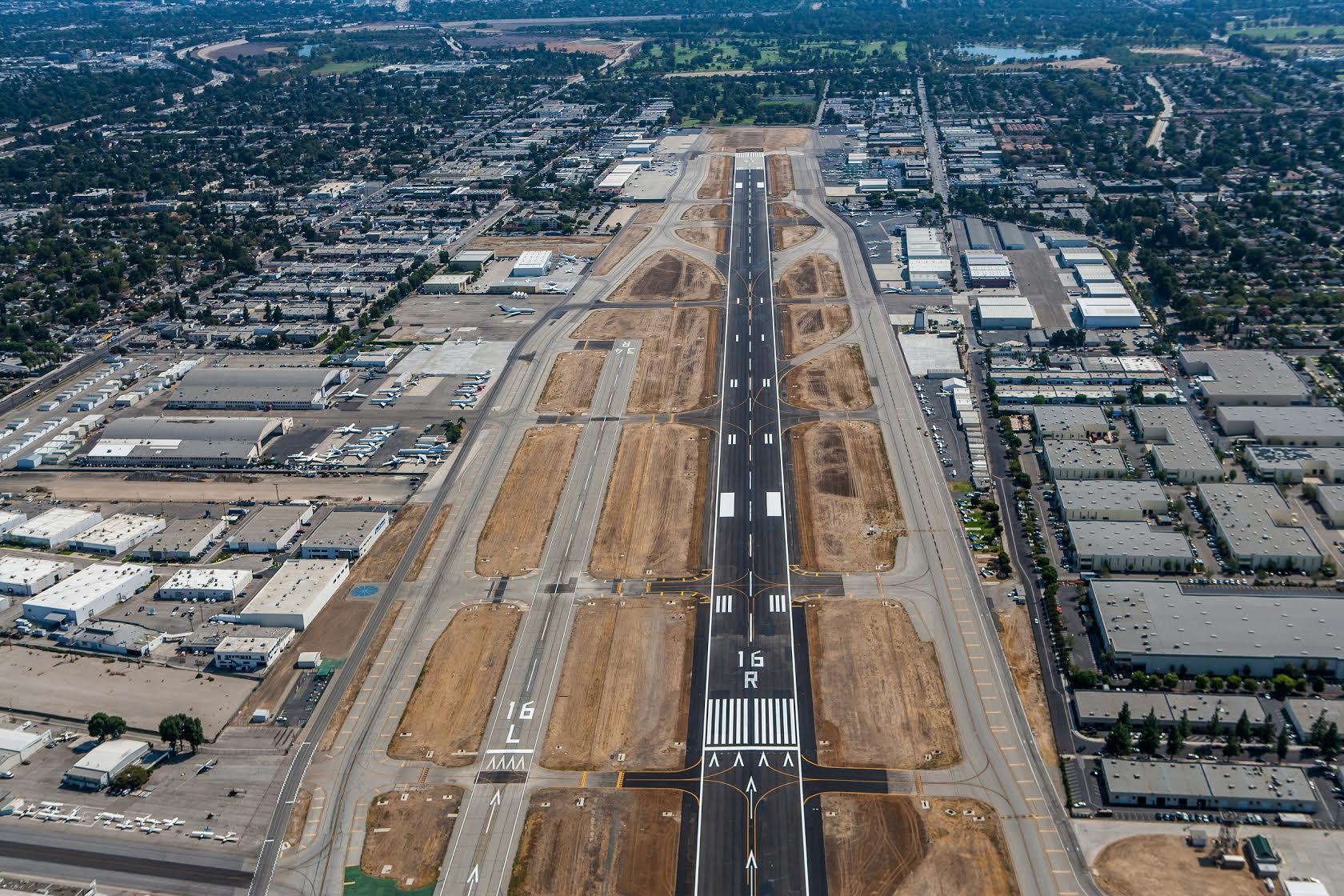 Aerial view of Van Nuys Airport