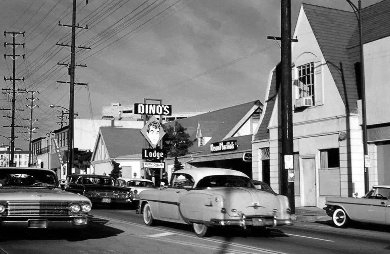 Dino's Lodge on the Sunset Strip in 1962