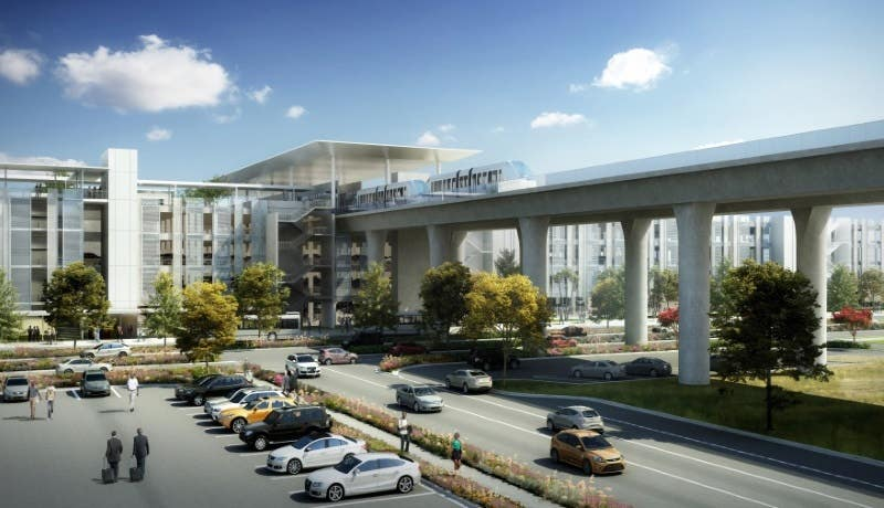 Consolidated Rent-A-Car (ConRAC) Facility at LAX   Rendering: LAWA