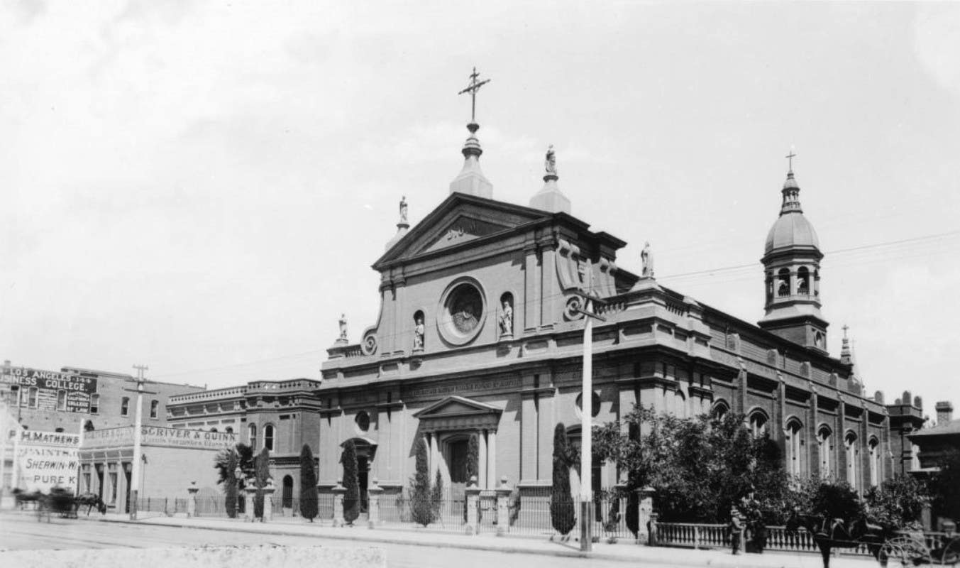 Cathedral of Saint Vibiana in Los Angeles circa 1888