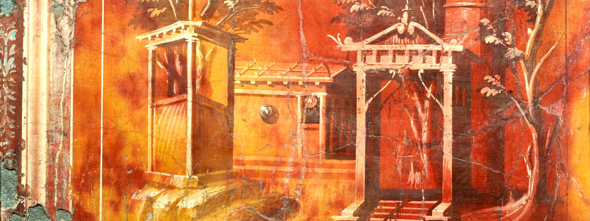 """Fresco from """"Buried by Vesuvius"""" at the Getty Villa"""