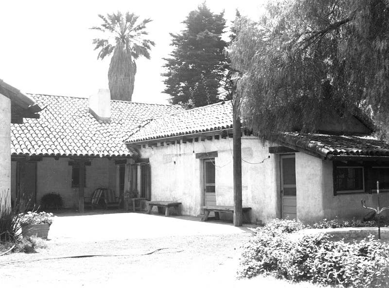 Gilmore Adobe at 6301 W Third St in 1936