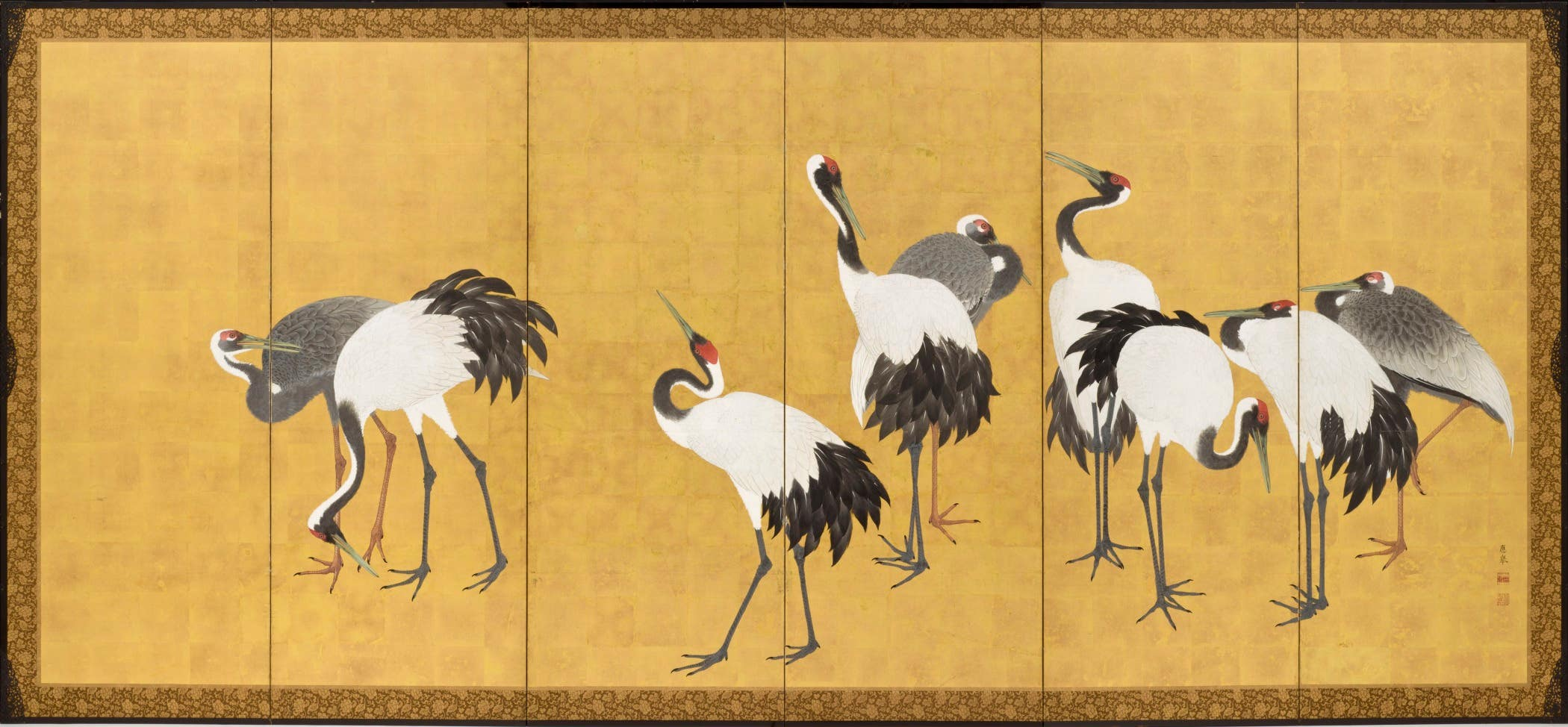 "LACMA Maruyama Ōkyo ""Cranes"" Japanese screens"