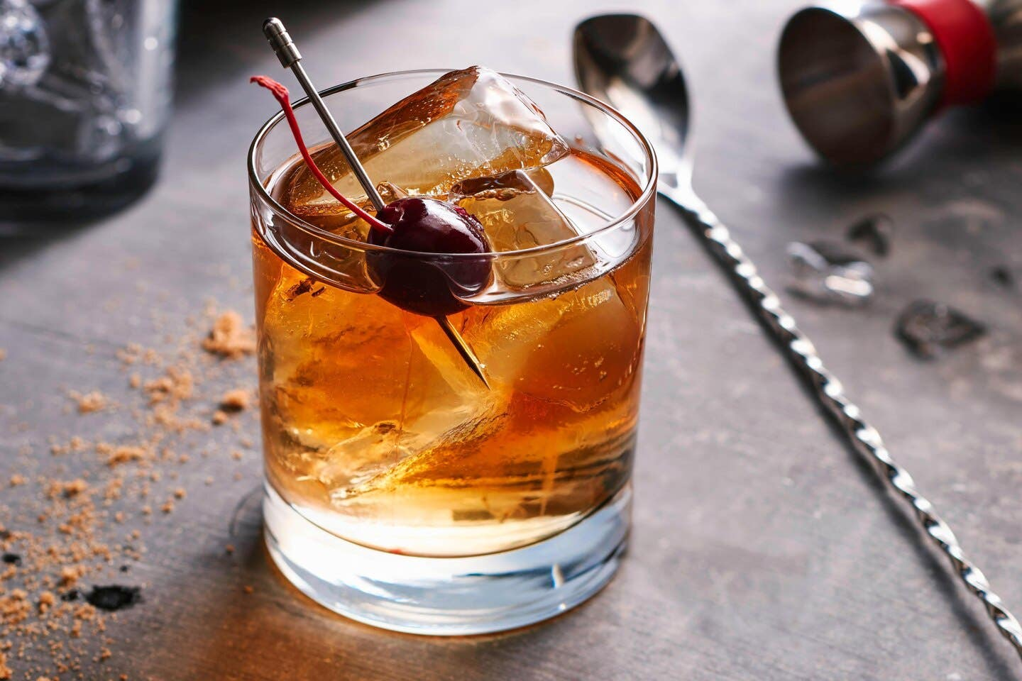 Black Cherry Old Fashioned at Bistro in the Courtyard by Marriott Century City/Beverly Hills