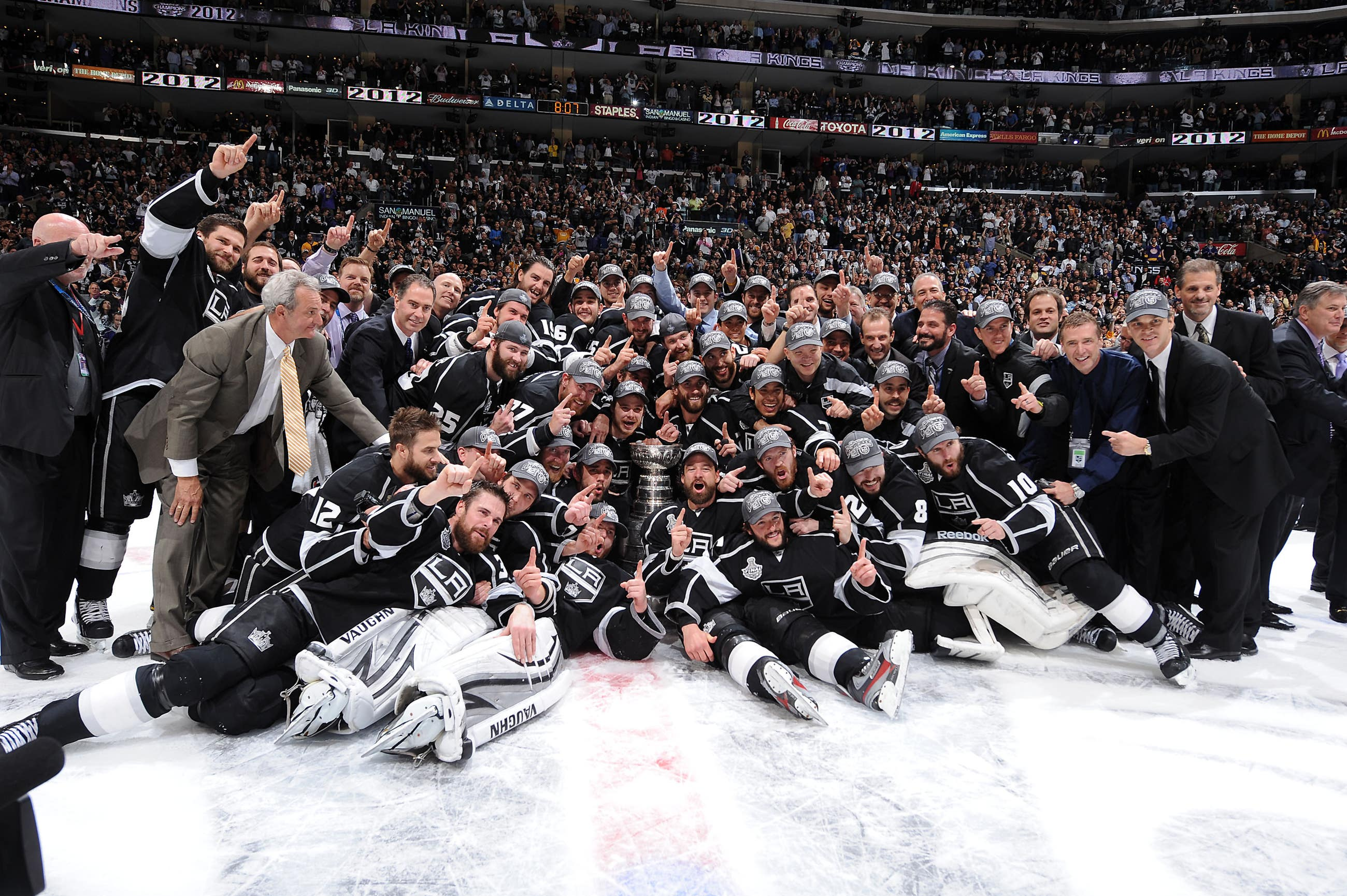 The LA Kings celebrate their first Stanley Cup at STAPLES Center