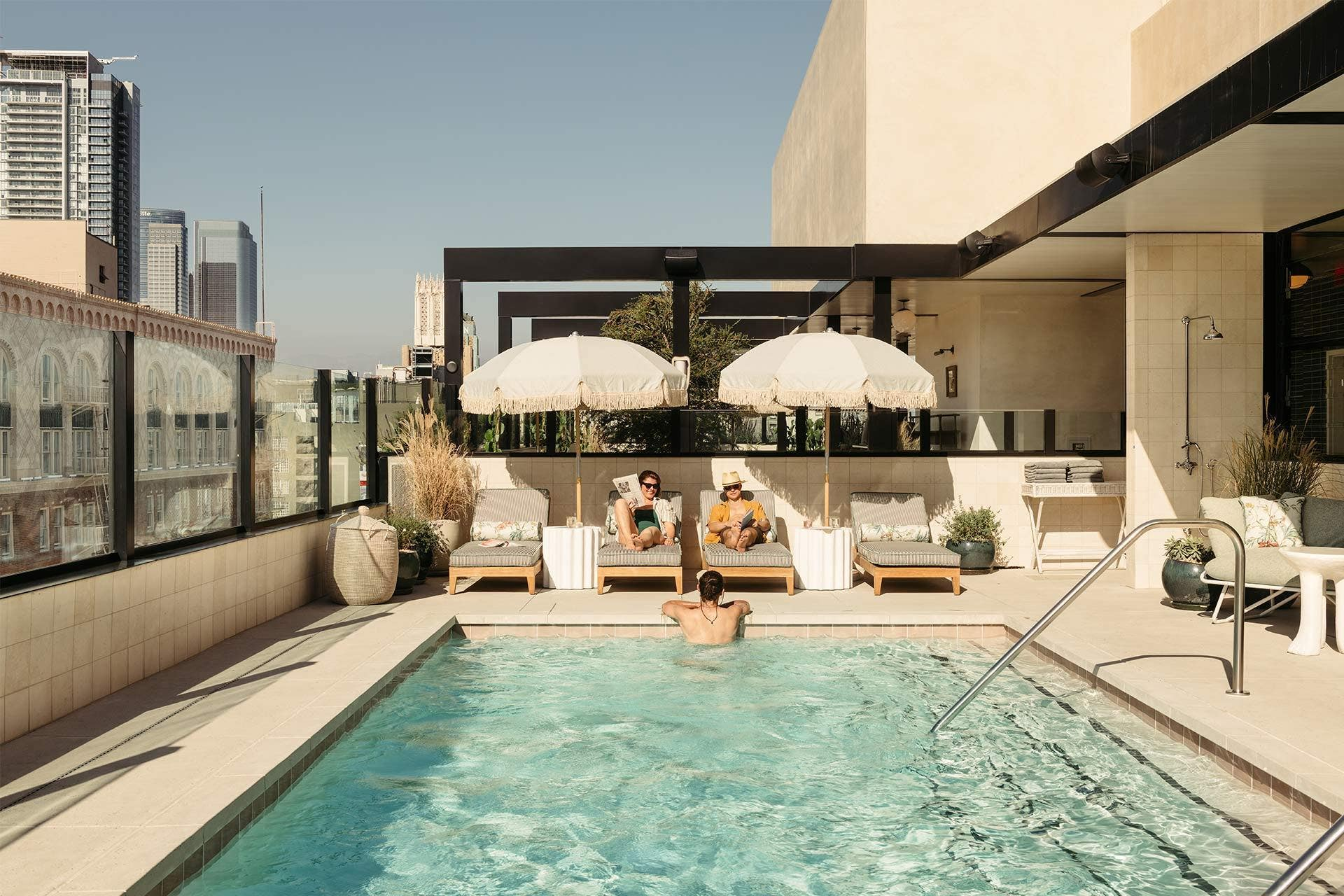 Rooftop Pool at The Hoxton Downtown LA