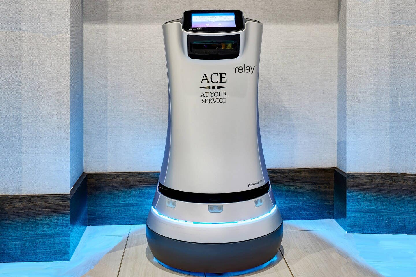 ACE the Robot Butler at the AC Hotel Beverly Hills
