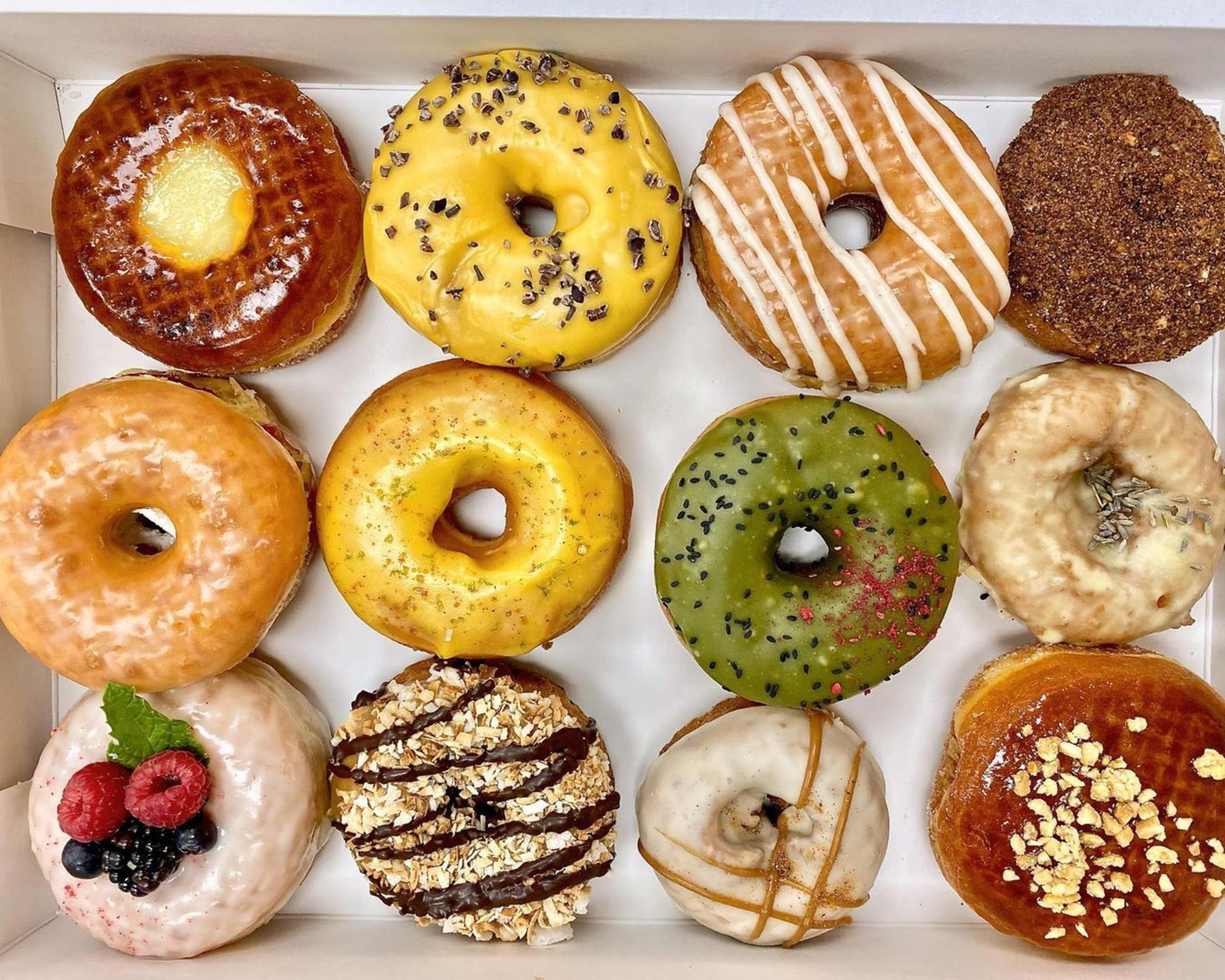 Box of a dozen donuts from Donut Friend