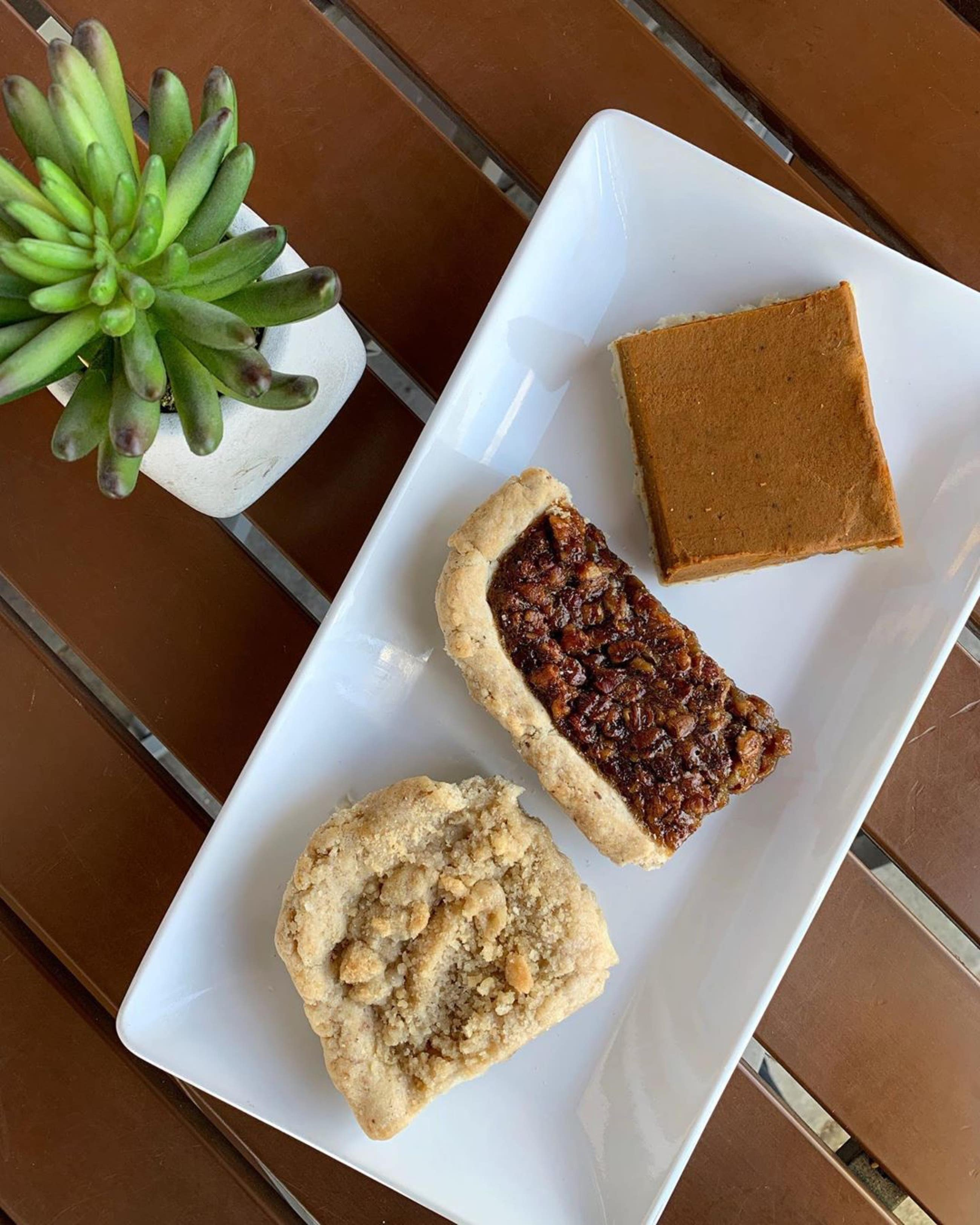 Pie bars at Rising Hearts Bakery in Culver City