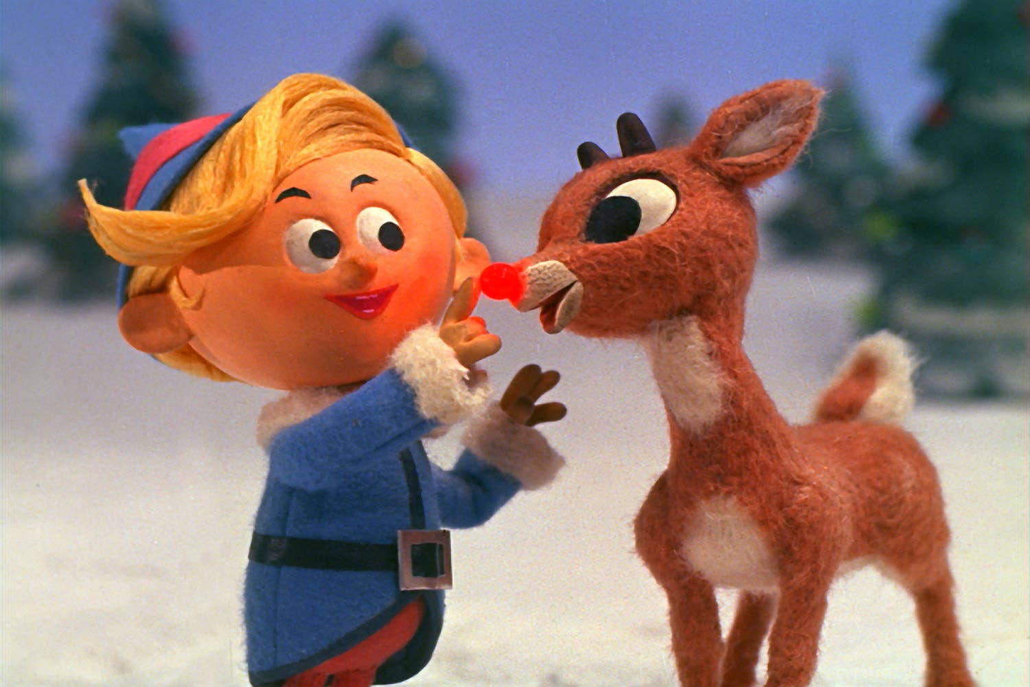 """Hermey the Elf and Rudolph in """"Rudolph the Red-Nosed Reindeer"""" (1964)"""