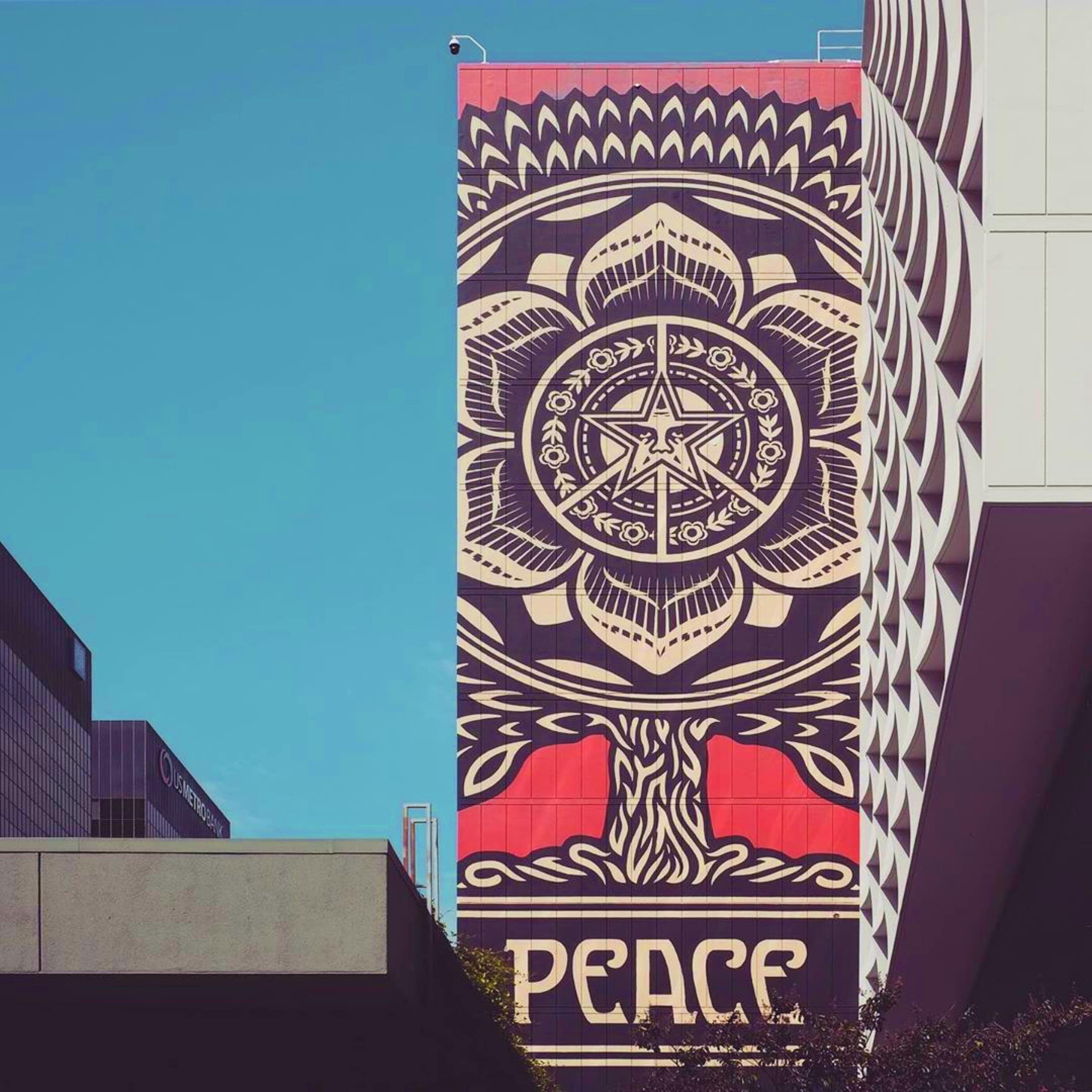 """Peace Tree"" by Shepard Fairey at LINE LA 
