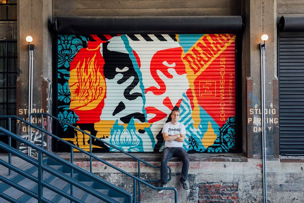 Shepard Fairey at Soho Warehouse | Photo: @OBEYGIANT, Twitter