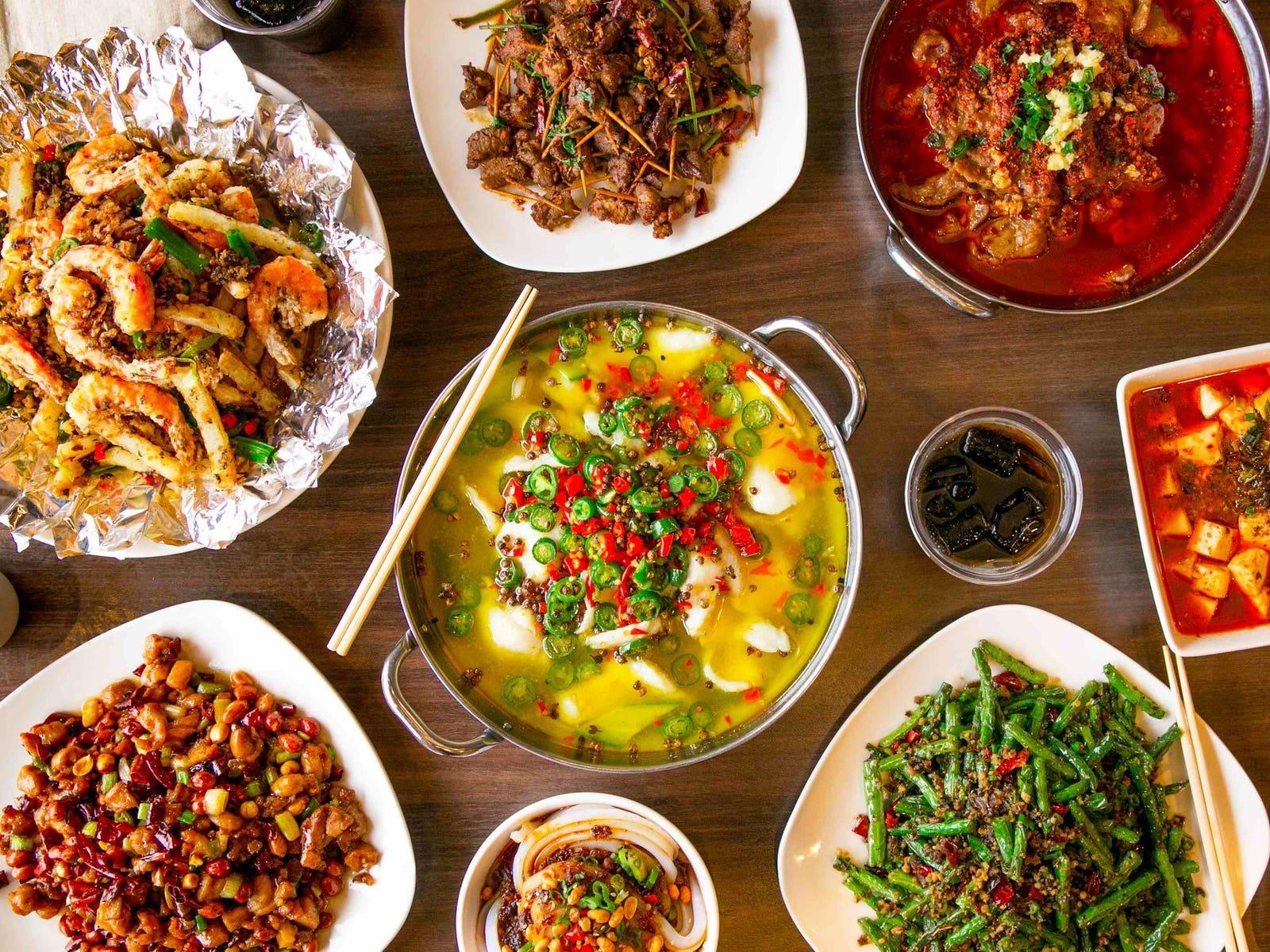 Dishes from Chengdu Taste in Alhambra