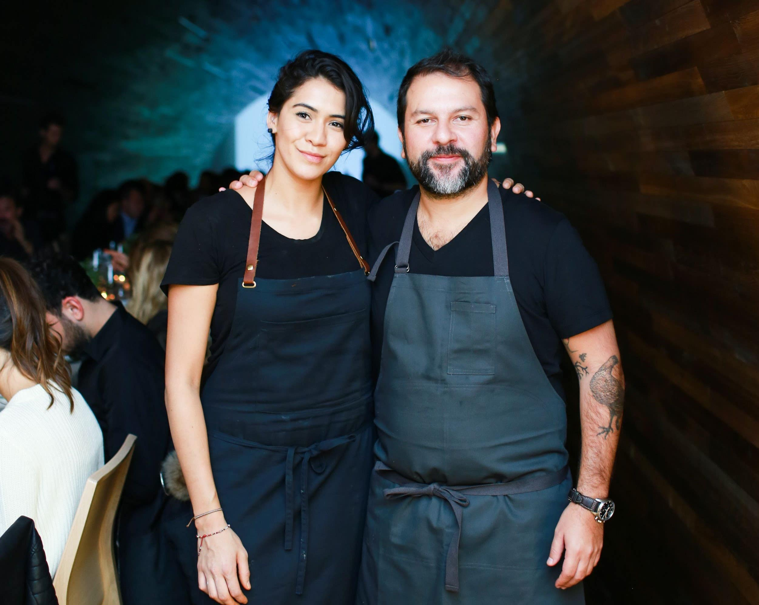 Daniela Soto-Innes and Enrique Olvera at the Cosme 2nd Anniversary Dinner