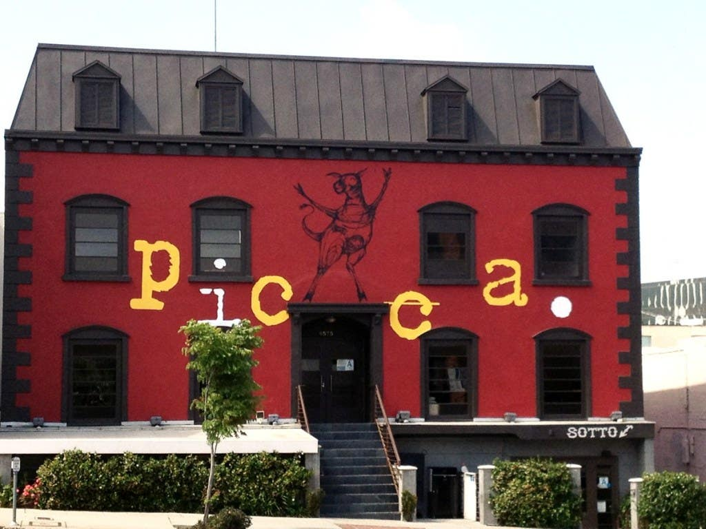 Exterior of the Picca and Sotto building on Pico Boulevard