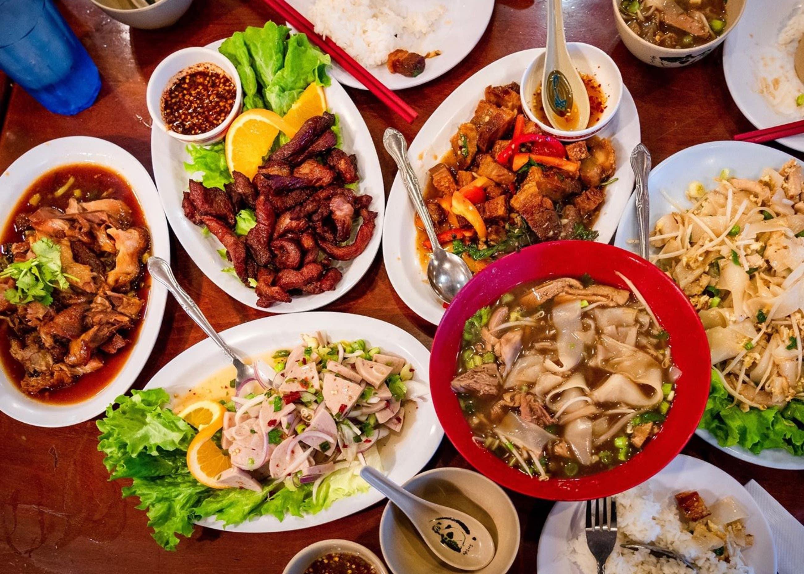 Late night feast at Ruen Pair in Thai Town