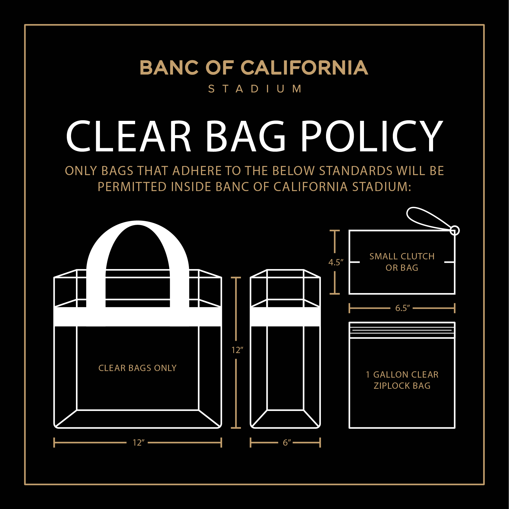 Banc of California Stadium Clear Bag Policy