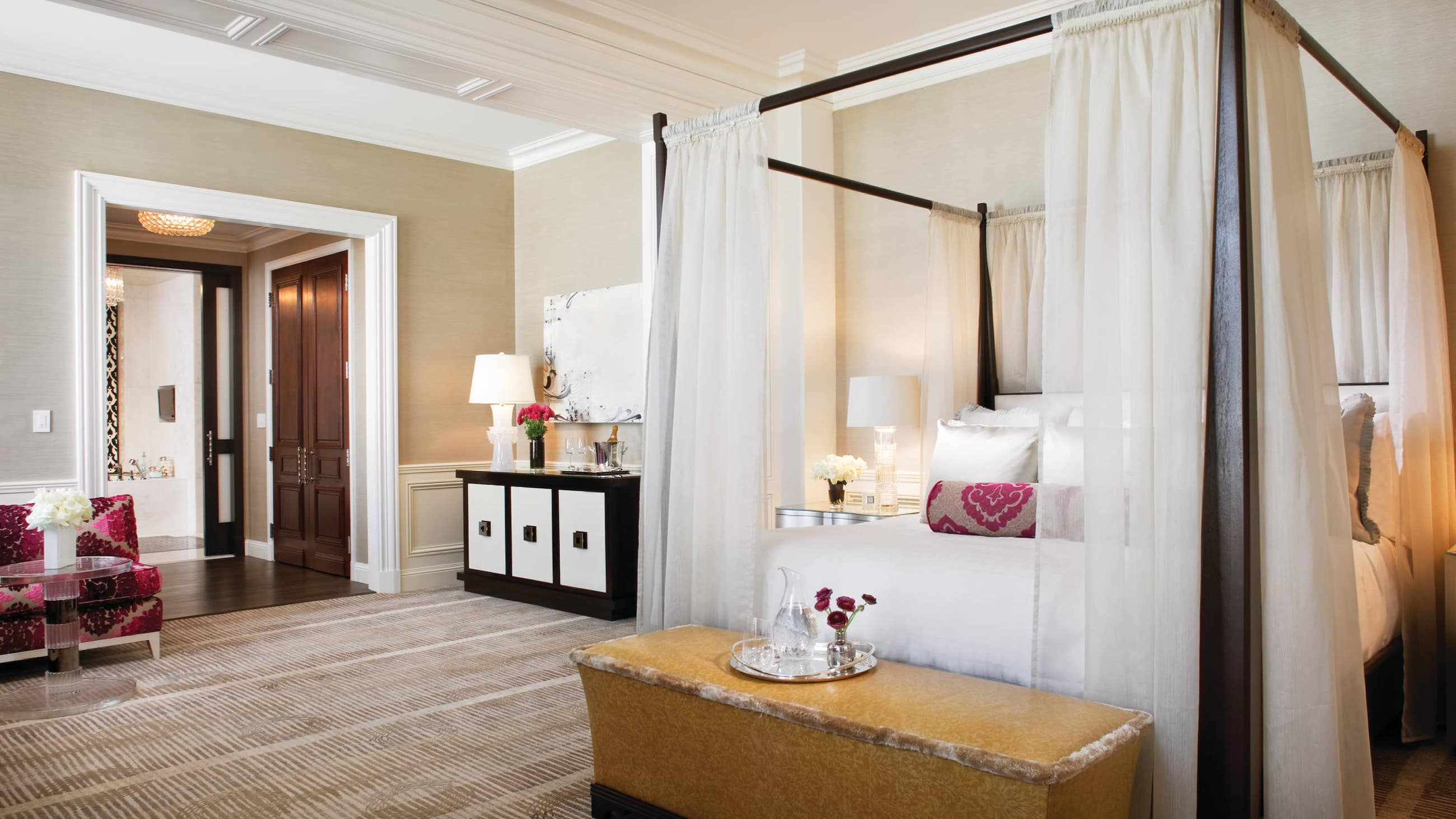 Bedroom of the Wilshire Presidential Suite in the Beverly Wilshire