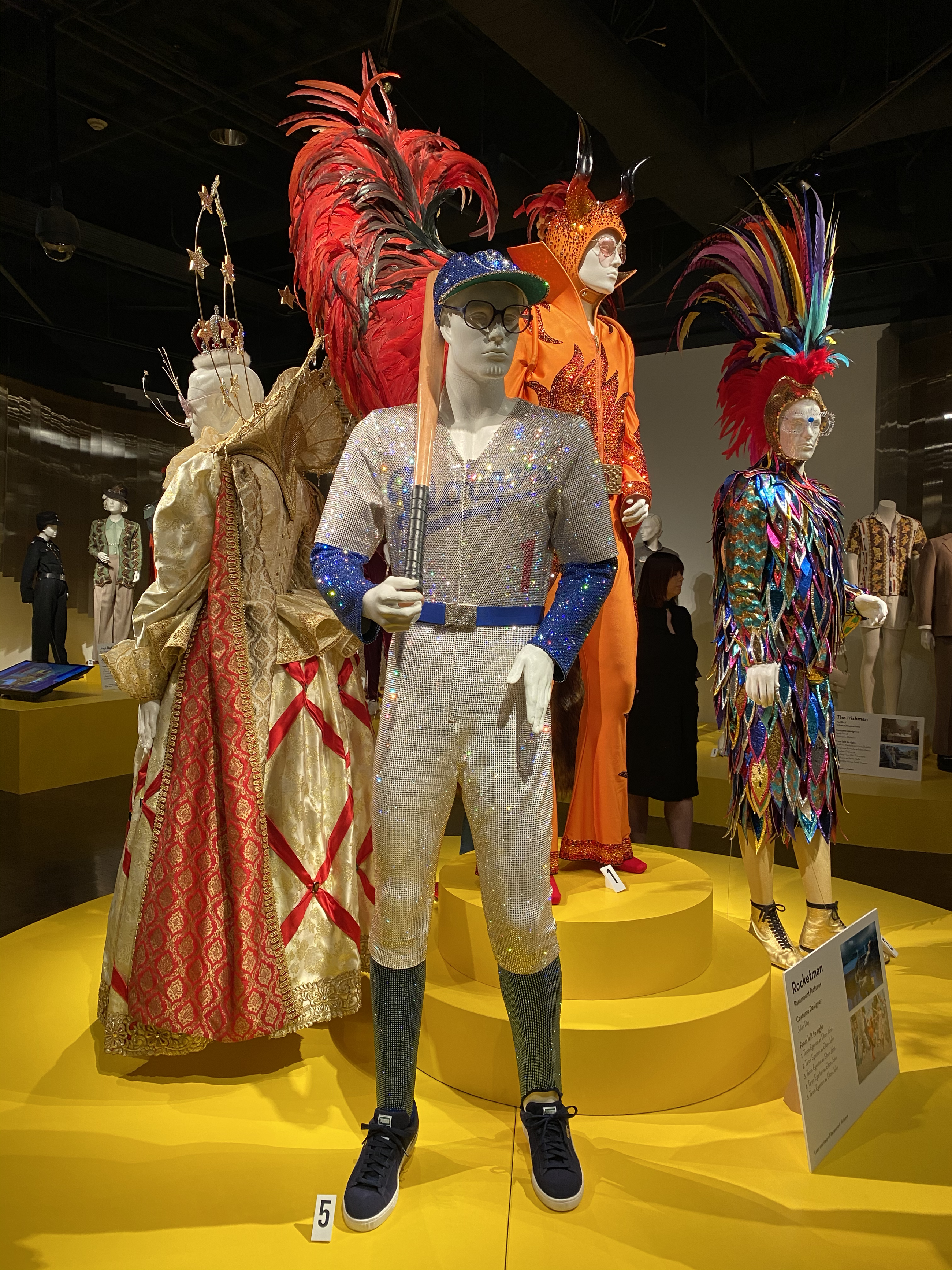 """""""Rocketman"""" costumes by Julian Day on view at FIDM"""
