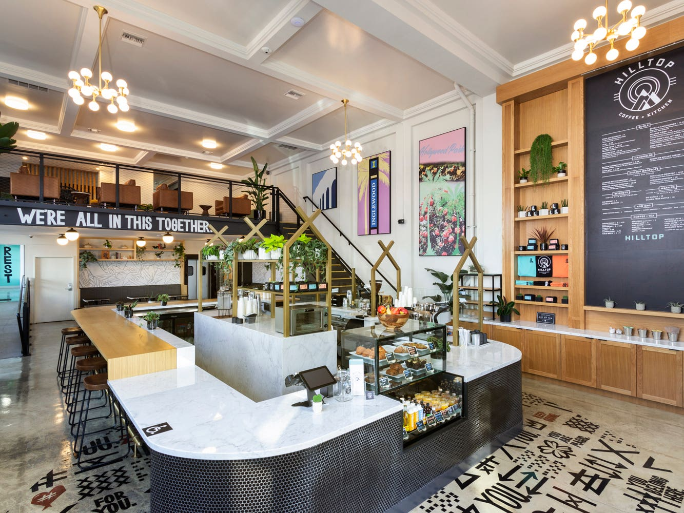 Interior of Hilltop Coffee + Kitchen in Inglewood