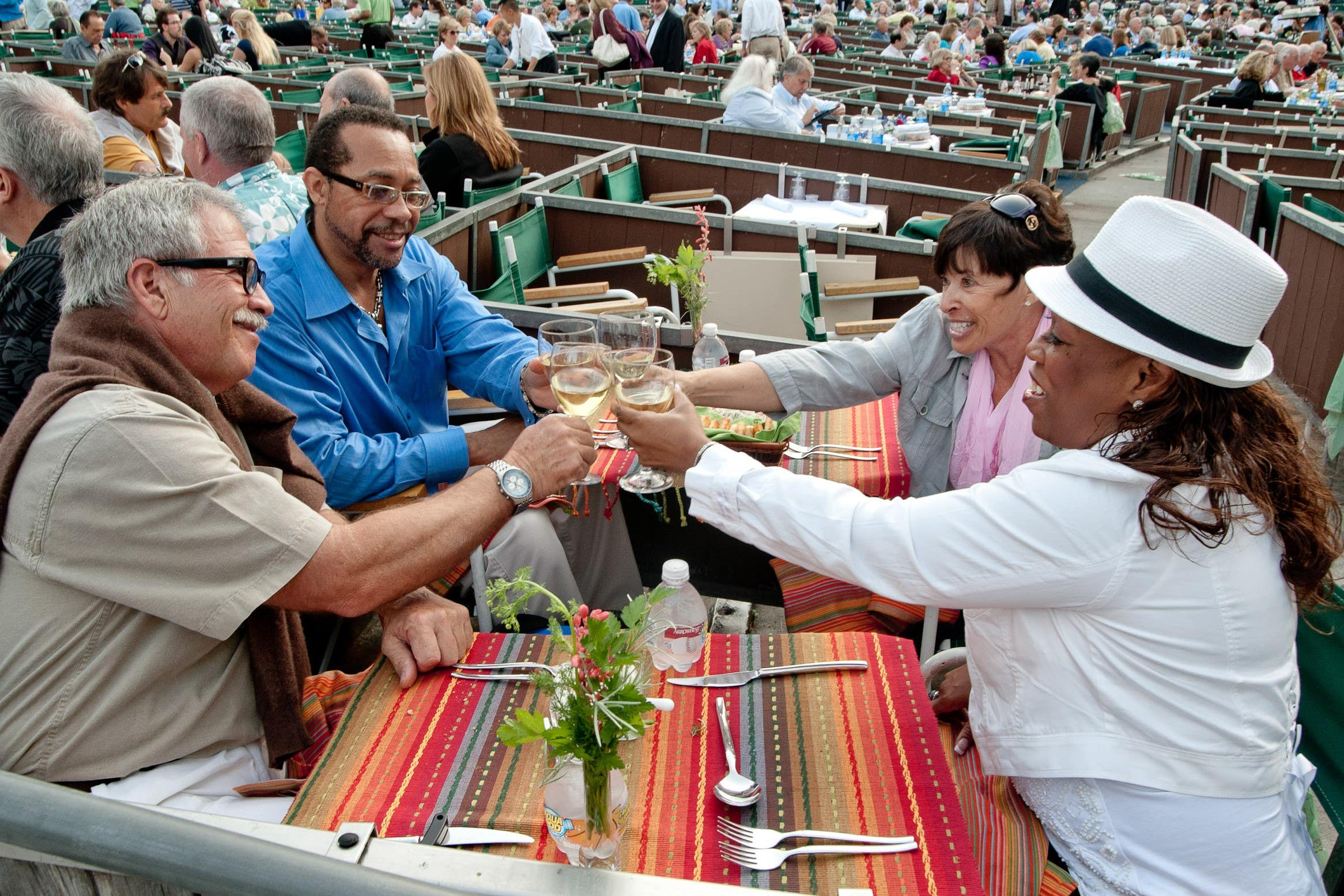 Cheers in a Box Seat at the Hollywood Bowl