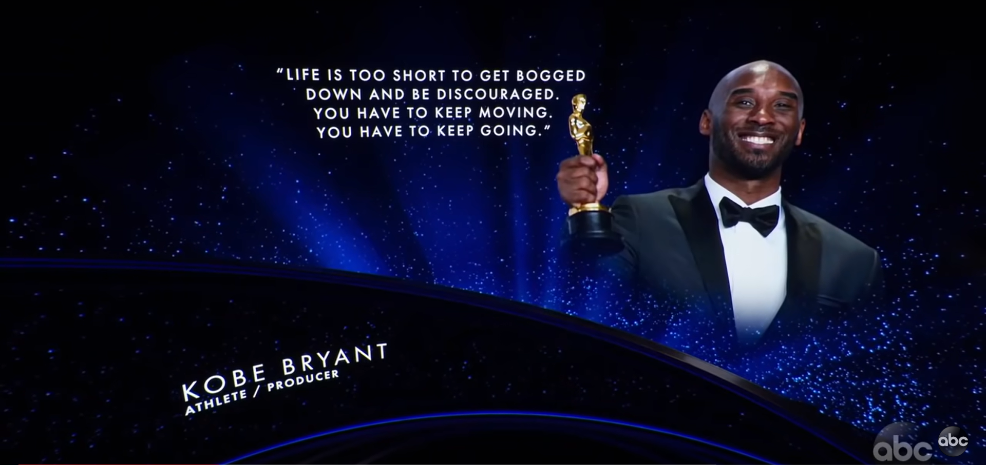 """Kobe Bryant from the """"In Memoriam"""" segment at the 92nd Academy Awards"""