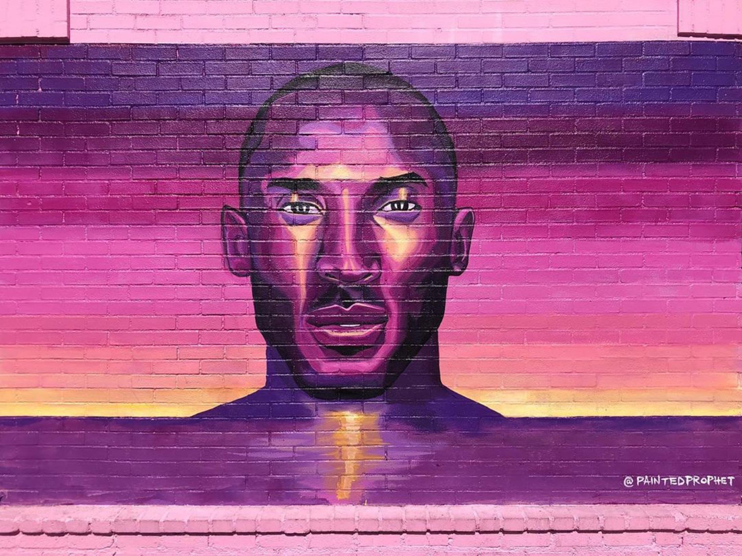 """Energy Never Dies"" Kobe Bryant mural by Painted Prophet at Sorella Boutique"