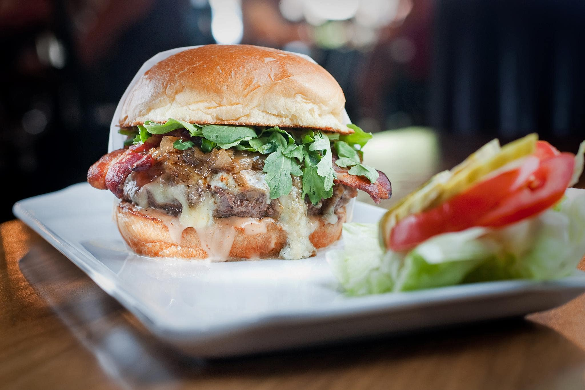 The Number One Burger at 25 Degrees in the Hollywood Roosevelt