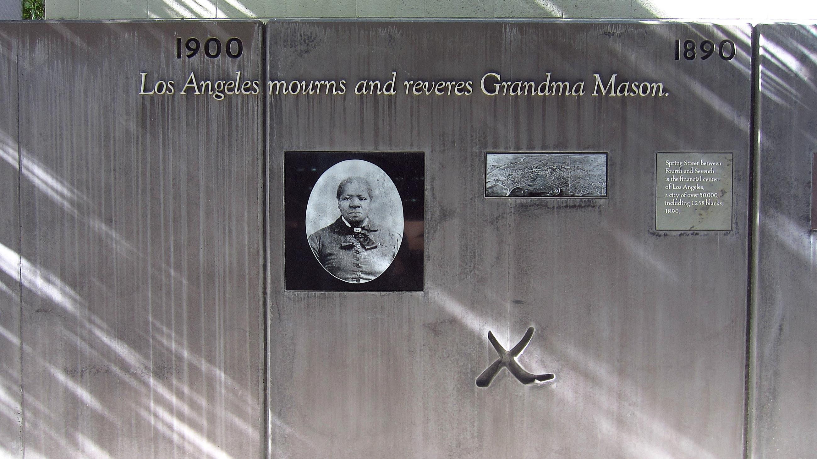 Timeline at Biddy Mason Memorial Park in Downtown LA