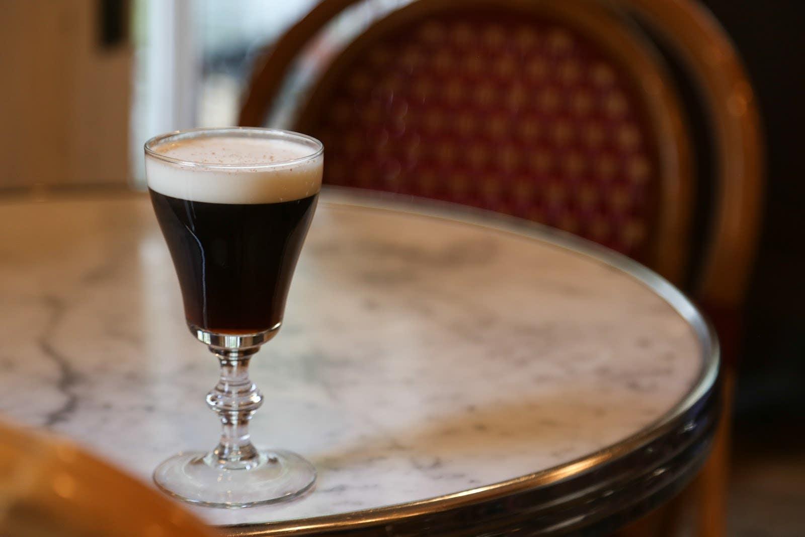Irish Coffee at Big Bar on St. Patrick's Day