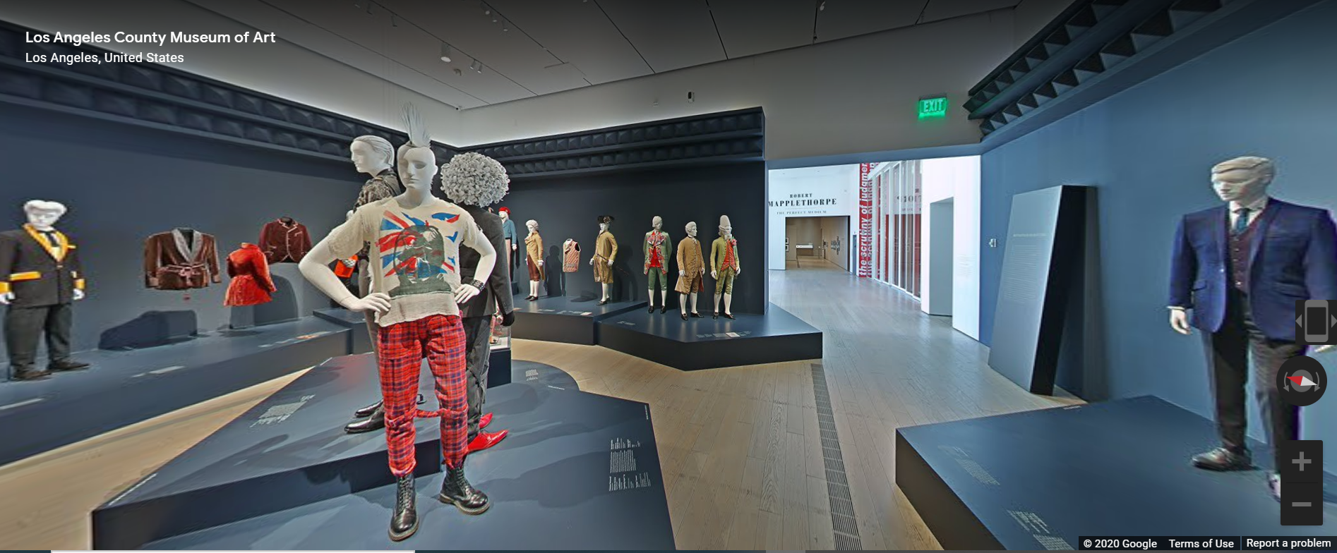 """""""Reigning Men: Fashion in Menswear, 1715-2015"""" at LACMA viewed on Google Arts & Culture"""