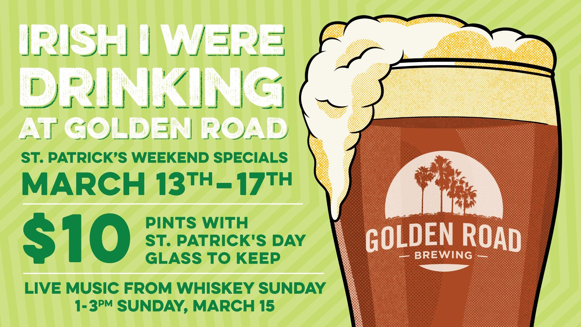 Golden Road Brewing St. Patrick's Day at Grand Central Market