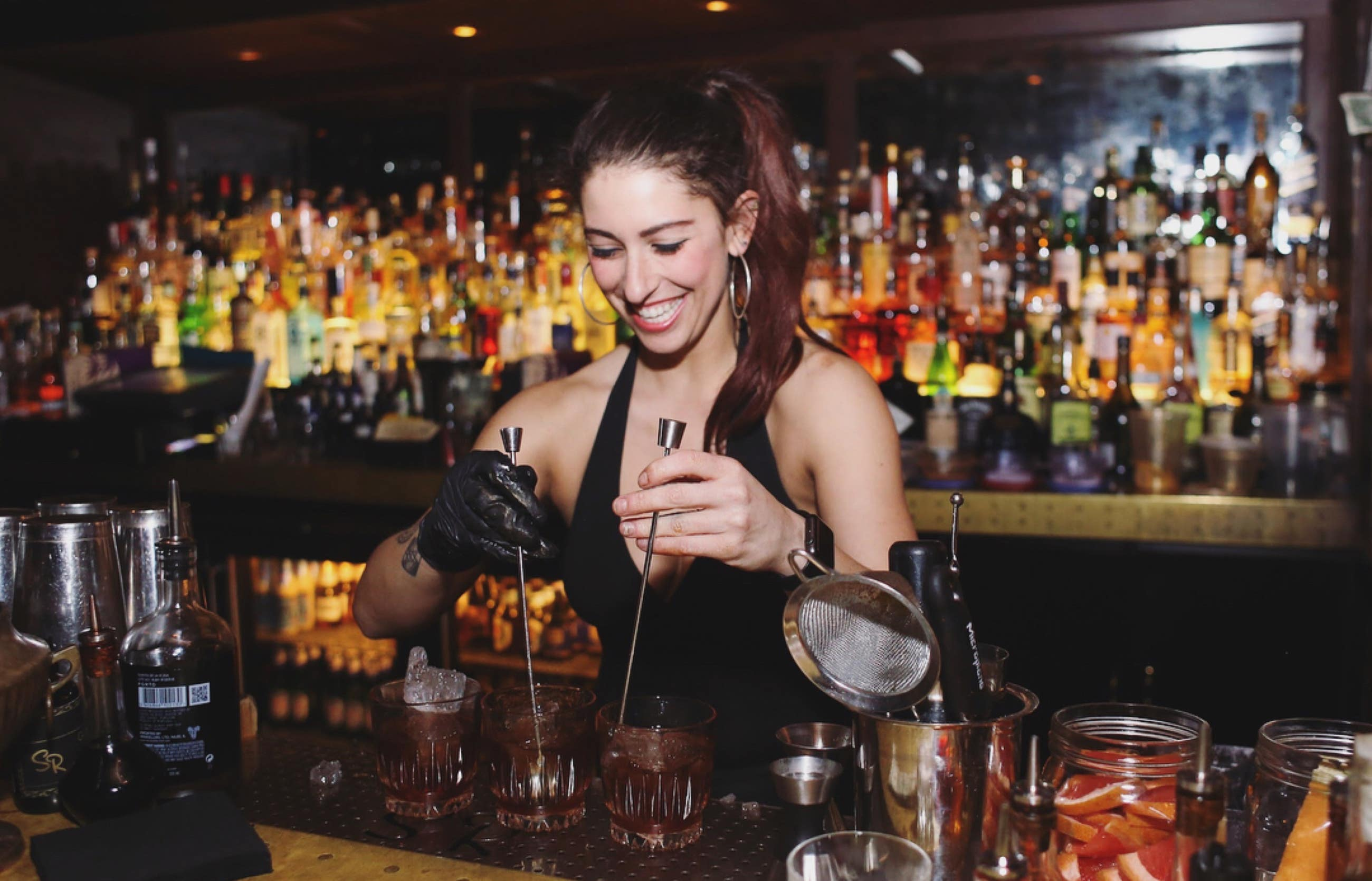Yael Vengroff making drinks at The Spare Room