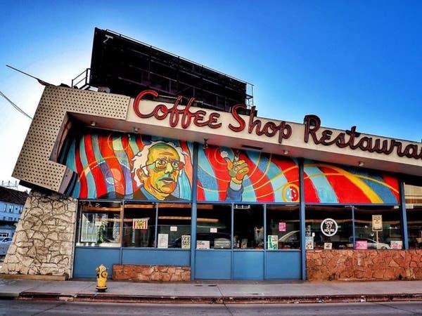 Bernie Sanders 2020 campaign office at Johnie's Coffee Shop