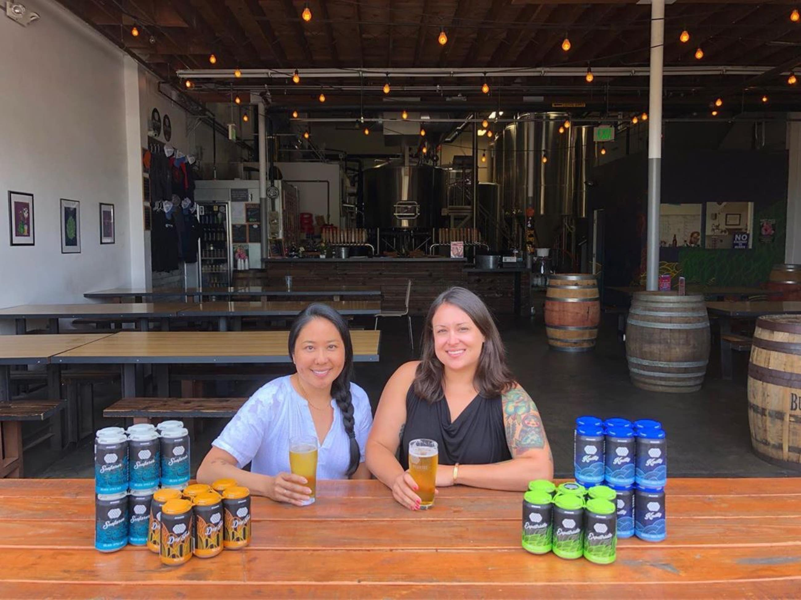 Lynne Weaver and Alexandra Nowell at Three Weavers Brewing Company