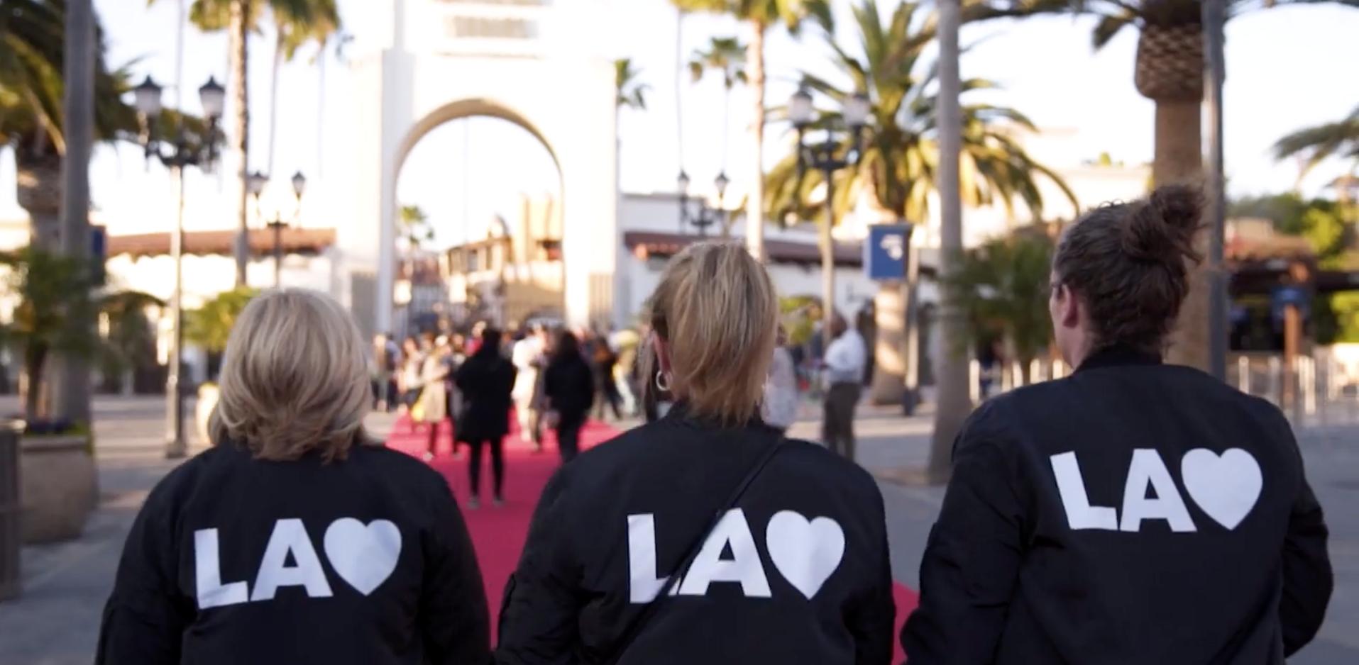 LA Staff in branded jackets