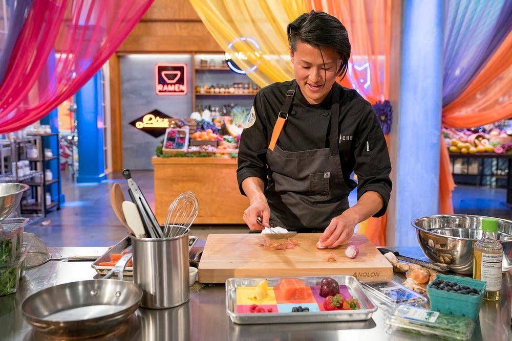 "Chef Melissa King prepares her Quickfire Challenge dish in Episode 4 of ""Top Chef: All-Stars LA"""