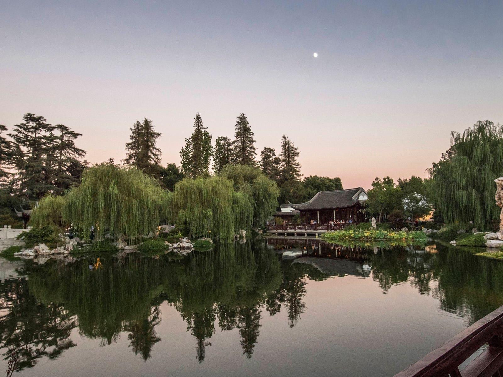 The Huntington Gardens at Night