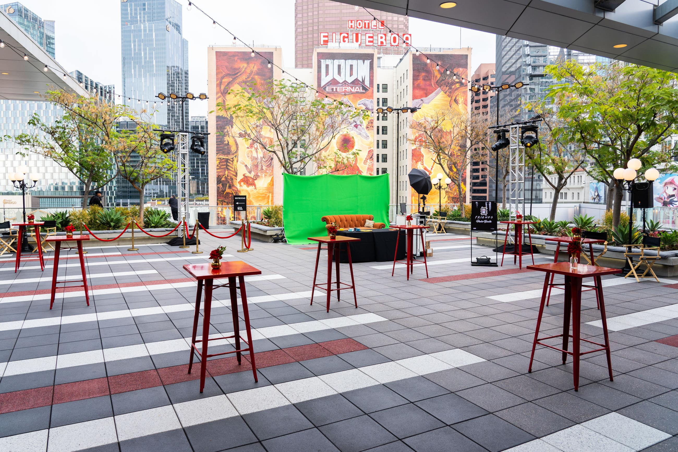 Event set up at The Terrace at L.A. LIVE