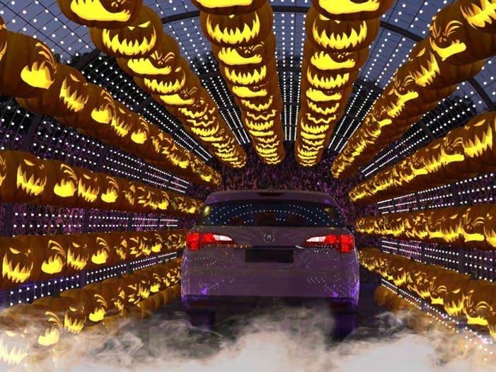 Jack O' Lantern Tunnel at Haunt'oween LA