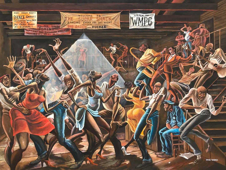 """""""The Sugar Shack"""" (1976) by Ernie Barnes"""