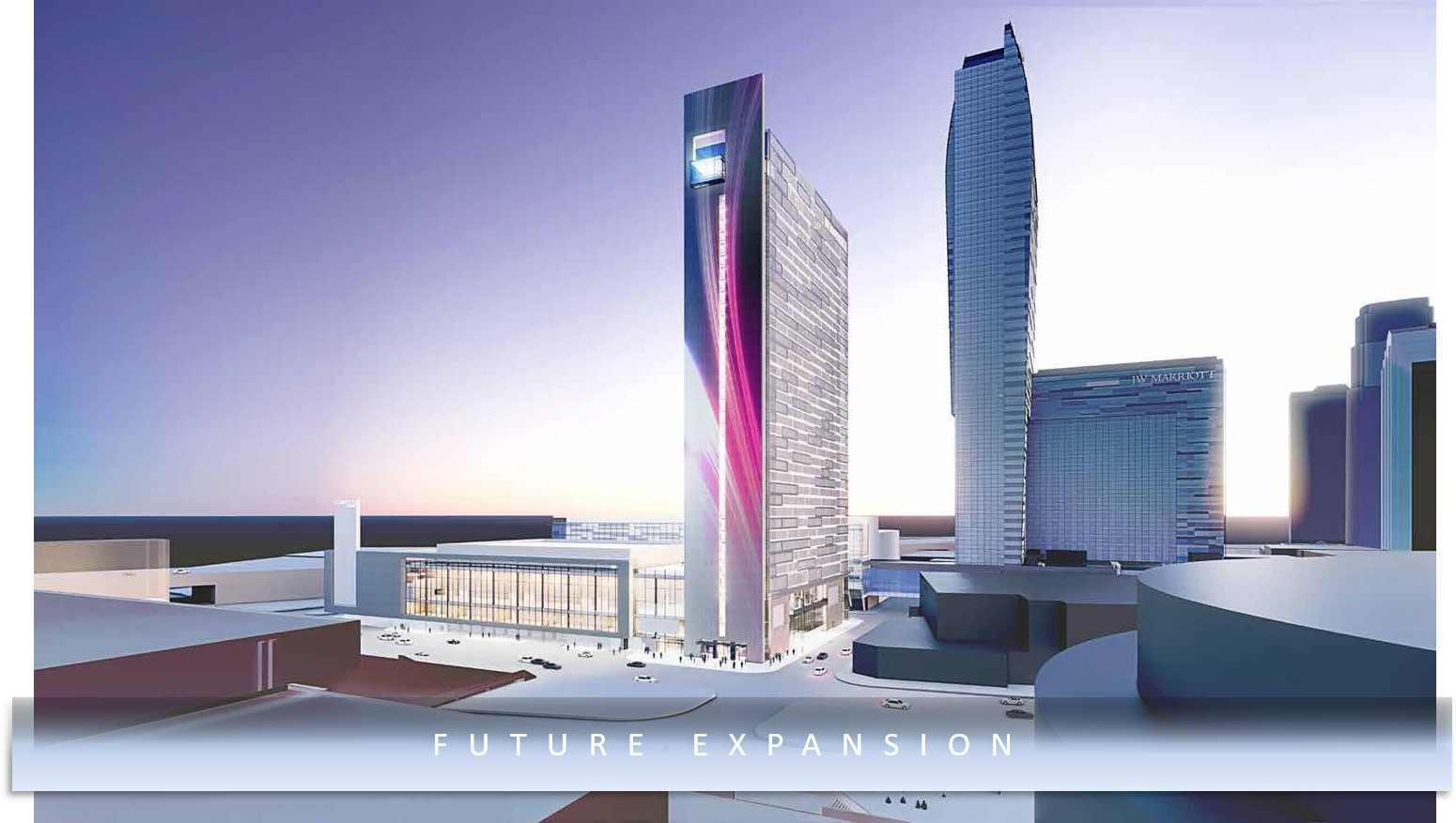 A rendering of the expansion of the JW Marriott LA LIVE hotel
