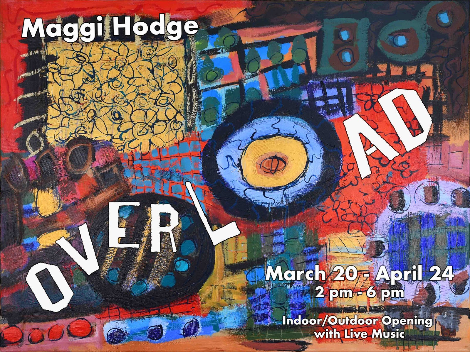 Flyer Invitation for Outdoor/Indoor Exhibition Opening at MASH Gallery