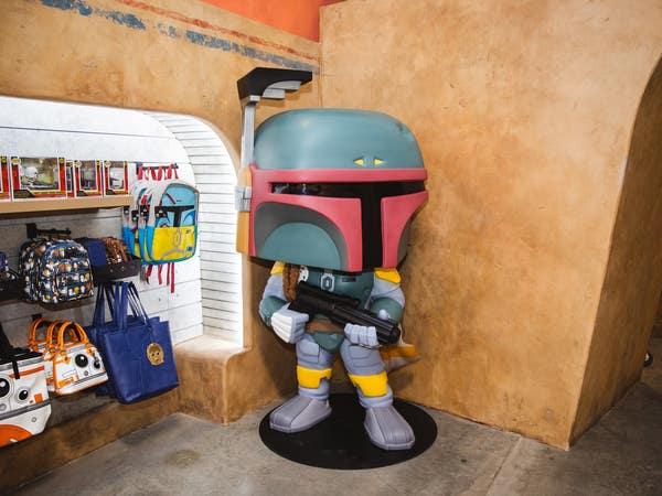 Boba Fett display at Funko Hollywood