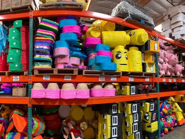 Piñatas at Raquel's Candy N' Confections in Downtown LA