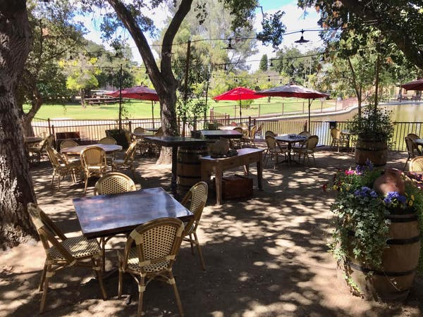 Patio at The Oaks at Lakeside in Encino